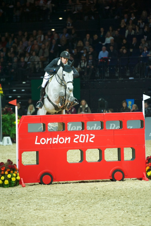 Steve Guerdat, Olympic Champion, jumps the London bus