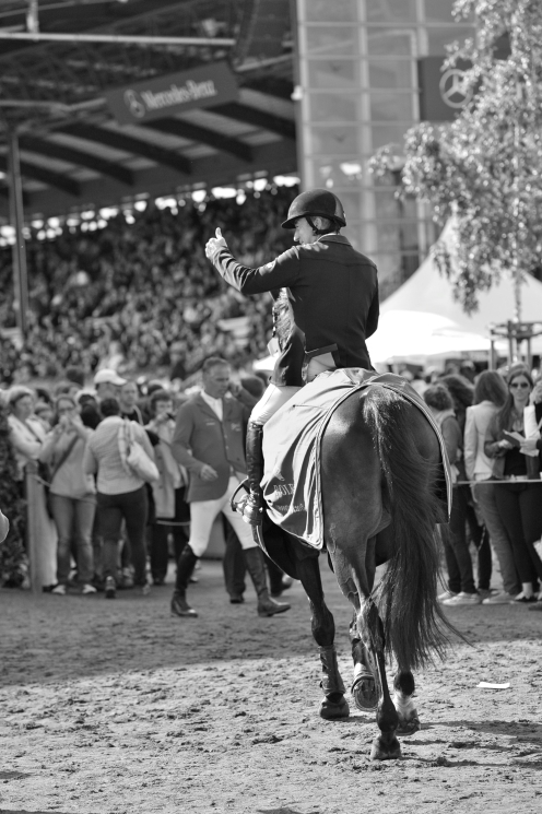 This was in the warm up ring, Michael had just won the Grand Prix of Aachen with GIG Amai and everyone was so happy for him. He really deserved it!