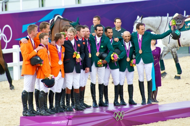 #13 (from the left) Team Netherlands, Team Great Britain and Team Saudi Arabia. Everyone was so happy and all the guys just joined in for a group photo, laughing and just so supportive of eachother